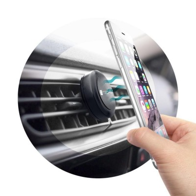 Car Universal Support with Magnets for Smartphone and Tablet Black - Techly - I-SMART-UNITY-7