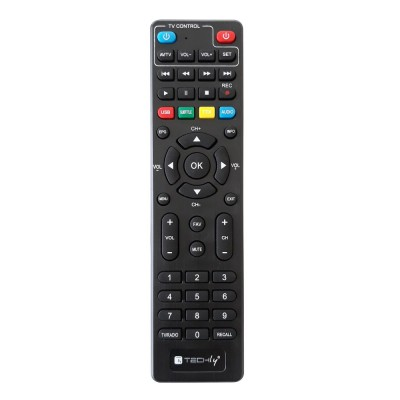 Decoder DVB-T/T2 H.265 HEVC 10bit Plastic with Display and 2 in 1 Universal Remote Control - Techly - IDATA TV-DT2PLB-4