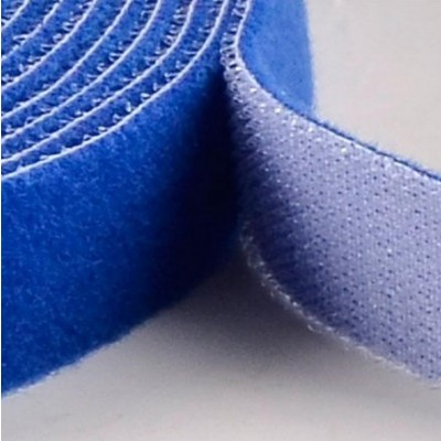 Velcro Cable Tie Roll Length 25 m Width 16 mm Blue - Techly - ISWT-ROLL-1625-3