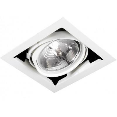 Single Recessed LED spotlight 12W Cool White, Silver - Techly - I-LED-DOWN-12WPWV-1