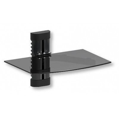 Glass Wall Shelf for Audio-Video Equipment - Techly - ICA-DRS 502TY-1