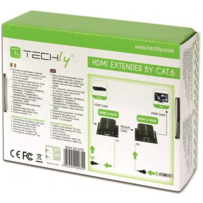 Extender HDMI Full HD on cable Cat.5E / 6 / 6A / 7 max 60m Autoregulated - Techly - IDATA EXT-E70I-7