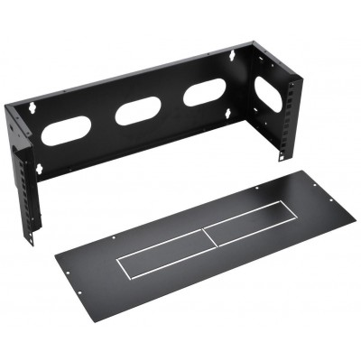"Wall Mounting Bracket from 19"" Easyline 7U with 3 Holes Black - Techly Professional - I-CASE EF-2007BK-1"