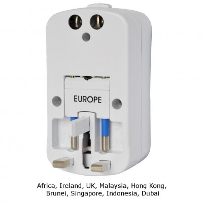 Universal Travel Adapter 2A for Electrical Sockets with 2 USB - Techly - IPW-ADAPTER6-2