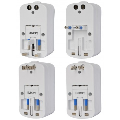 Universal Travel Adapter 2A for Electrical Sockets with 2 USB - Techly - IPW-ADAPTER6-6