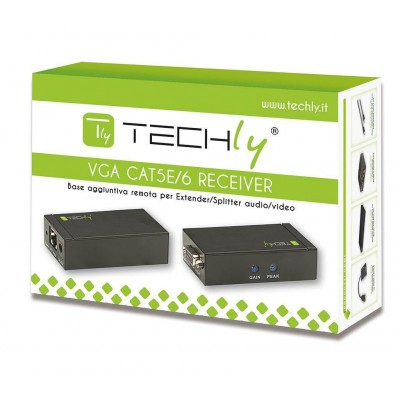 Receiver Extenders Audio / Video over Cat5e cable 300m - Techly - IDATA EX-DL45-1