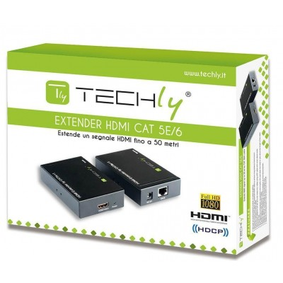 HDMI Extender over CAT5 / 6 50 m - Techly - IDATA EXT-E40-1