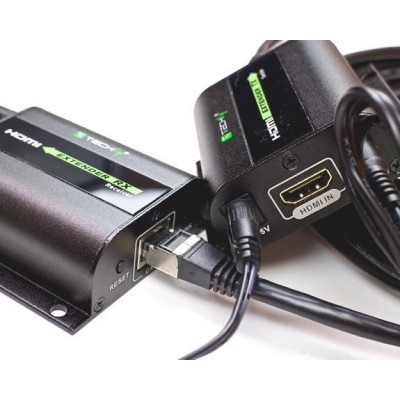 Extender HDMI Full HD on cable Cat.5E / 6 / 6A / 7 max 60m Autoregulated - Techly - IDATA EXT-E70I-4
