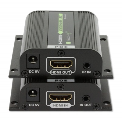 HDMI Extender Full HD over Network cable Cat.6/6A/7 with POE - Techly - IDATA EXT-E70POE-4
