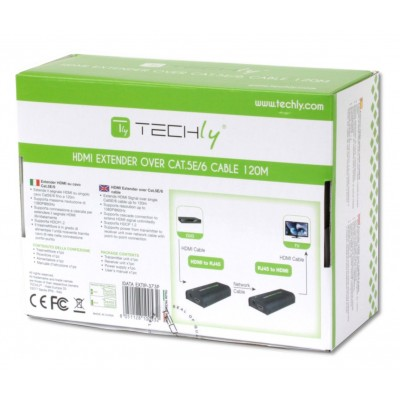 HDMI Extender on Cat.6 cable POE 120m - Techly - IDATA EXTIP-373P-6
