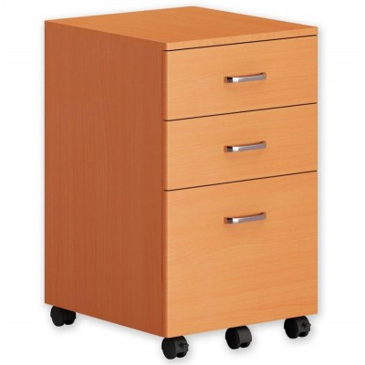 Chest with Three Drawers Desk, Beech - Techly - ICA-FC 09-1