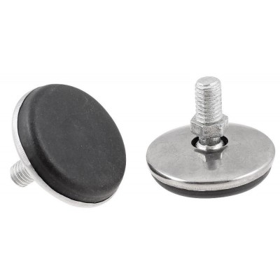 Chrome Leveling Foot with Plastic Base - Techly - ICA-CT FEET1-1