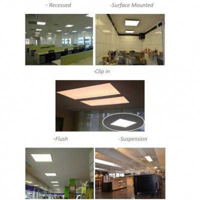 LED Panel 15 x 15 cm 12W Warm White Light - Techly - I-LED-PAN-12W-WWS-3