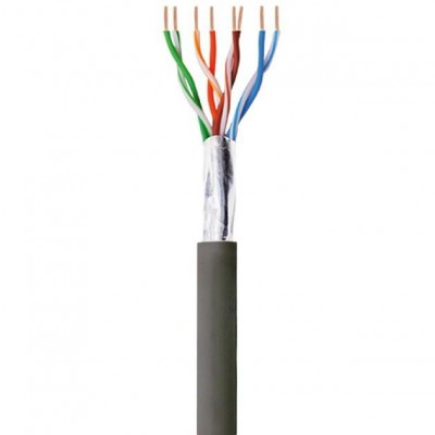F/UTP Hank Cable Cat.5E CCA 100m Solid Outdoor Black - Techly Professional - ITP8-RIS-0100LO-1