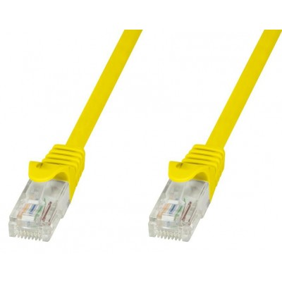 Network Patch Cable in CCA Cat.6 UTP 1m Yellow - Techly Professional - ICOC CCA6U-010-YET-1