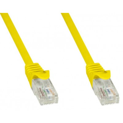 Network Patch Cable in CCA Cat.5E UTP 20m Yellow - Techly Professional - ICOC CCA5U-200-YET-2