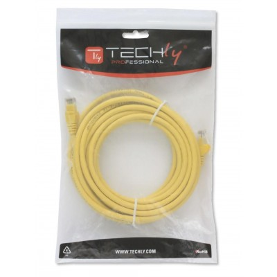 Network Patch Cable in CCA Cat.5E UTP 0,5m Yellow - Techly Professional - ICOC CCA5U-005-YET-1