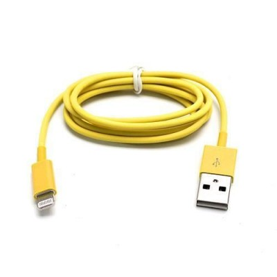 Lightning to USB2.0 Cable 8p Yellow 1m - Techly - ICOC APP-8YE-11