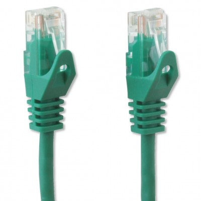 Network Patch Cable Cat.5E in CCA UTP 3m Green - Techly Professional - ICOC CCA5U-030-GREET-3