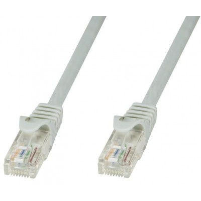 Network Patch Cable in CCA UTP Cat.6 3m Gray - Techly Professional - ICOC CCA6U-030T-1