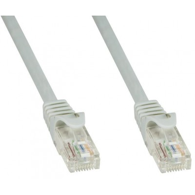 Network Patch Cable in CCA Cat.6 UTP Grey 20m - Techly Professional - ICOC CCA6U-200T-2
