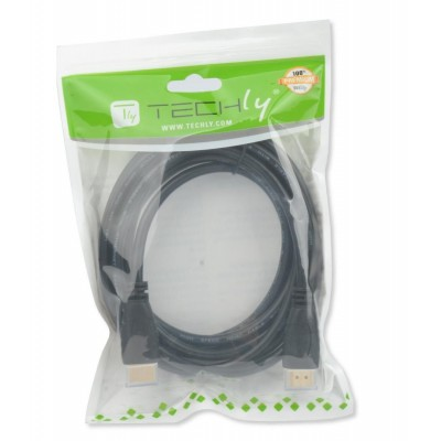 HDMI 2.0 Cable A/A M/M 0.5m Black - Techly - ICOC HDMI2-4-005-1