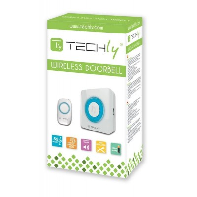 Wireless Doorbell up to 300m with Lithium Battery and Remote Control - Techly - I-BELL-RING02-1
