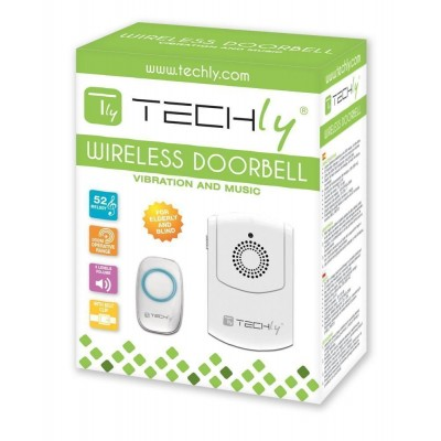 Vibration Wireless Doorbell up to 300m with Remote Control - Techly - I-BELL-RING03-1
