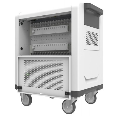 Charging Station Trolley USB 32 Tablets Sliding Doors Grey - Techly Professional - I-CABINET-02TY-4