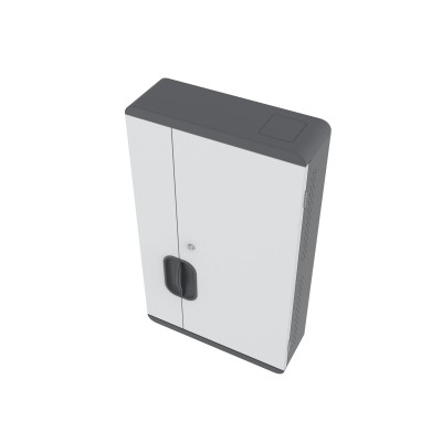 Wall Mounted Charging Cabinet 12 Tablets or Smartphones Grey - Techly Professional - I-CABINET-03TY-11