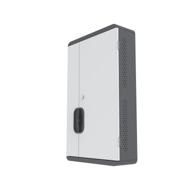 Wall Mounted Charging Cabinet 12 Tablets or Smartphones Grey - Techly Professional - I-CABINET-03TY-1