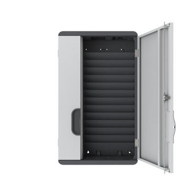 Wall Mounted Charging Cabinet 12 Tablets or Smartphones Grey - Techly Professional - I-CABINET-03TY-18