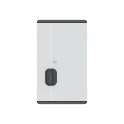 Wall Mounted Charging Cabinet 12 Tablets or Smartphones Grey - Techly Professional - I-CABINET-03TY-10