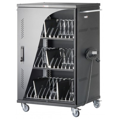 Cart Charging Station 36 Notebook Tablet or Smartphone Black - Techly Professional - I-CABINET-36D12ATY-8