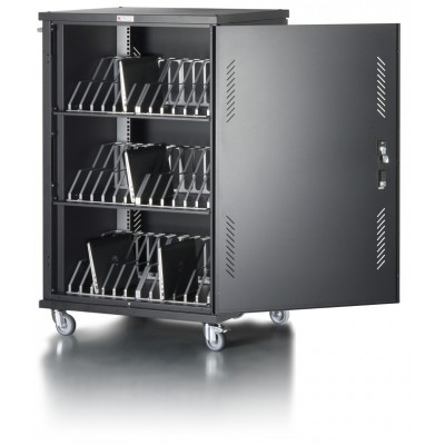 Cart Charging Station 36 Notebook Tablet or Smartphone Black - Techly Professional - I-CABINET-36D12ATY-1