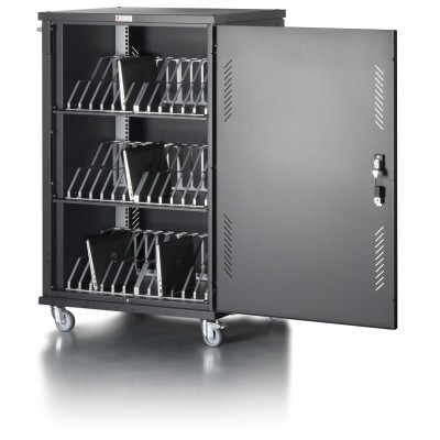 Cart Charging Station 36 Notebook Tablet or Smartphone Black - Techly Professional - I-CABINET-36D12ATY-6