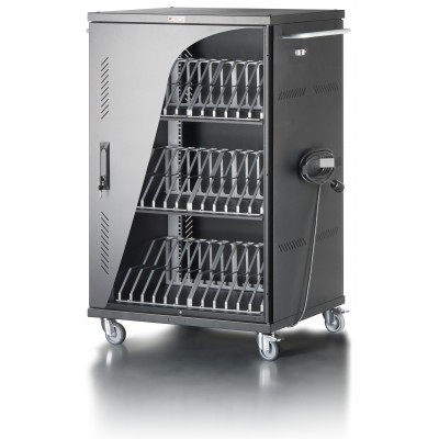 Ventilated Cart Charging Station 36 Notebook or Smartphone Black - Techly Professional - I-CABINET-36D12ATYV-1