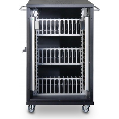 Ventilated Cart Charging Station 36 Notebook or Smartphone Black - Techly Professional - I-CABINET-36D12ATYV-6