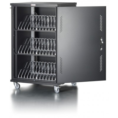 Ventilated Cart Charging Station 36 Notebook or Smartphone Black - Techly Professional - I-CABINET-36D12ATYV-7