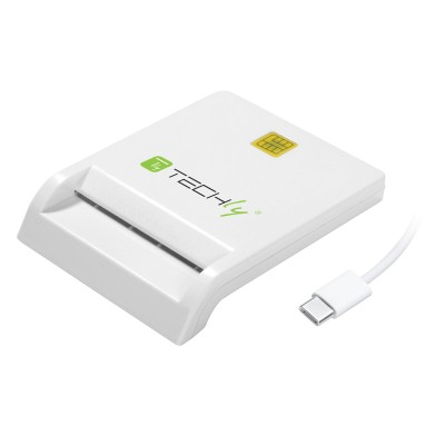 Compact Smart Card Reader/Writer USB-C™ White - Techly - I-CARD CAM-USB2TYC-1