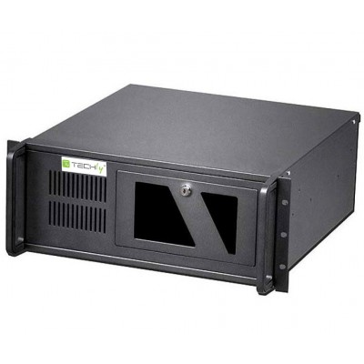 Industrial 4U Rackmount Computer Chassis 499mm - Techly - I-CASE MP-P4HX-BLK2-1