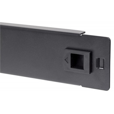 """Blind Toolless Clip Panel for Racks 19"""" Black 1 Unit - Techly Professional - I-CASE BLANK-1-SCLTY-2"""