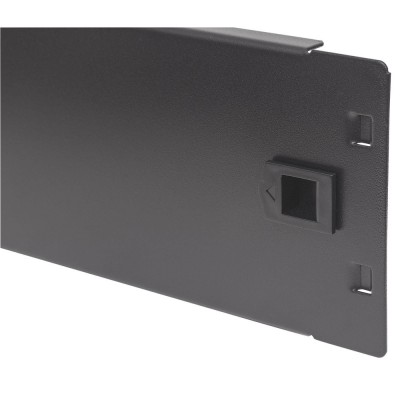 "Blind Toolless Clip Panel for Racks 19"" Black 2 Units - Techly Professional - I-CASE BLANK-2-SCLTY-4"