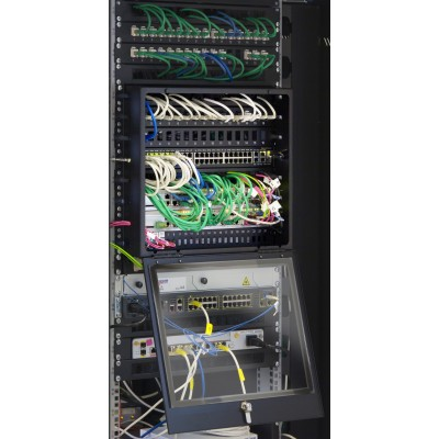 """8U Glass Security Cover with Key for Rack 19"""" - Techly Professional - I-CASE COVER-8UBK-4"""
