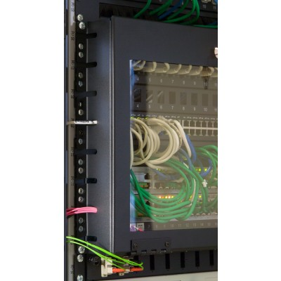 """8U Glass Security Cover with Key for Rack 19"""" - Techly Professional - I-CASE COVER-8UBK-3"""