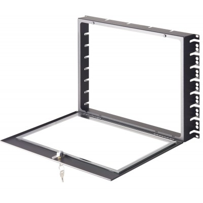 """8U Glass Security Cover with Key for Rack 19"""" - Techly Professional - I-CASE COVER-8UBK-1"""