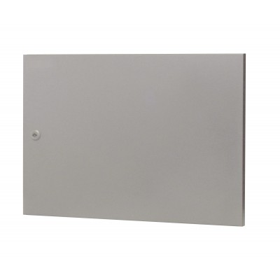 Blind metal door for 9U cabinet ER series Grey   - Techly Professional - I-CASE DOOR-ER9MET-1