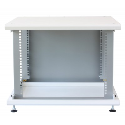 """19"""" Rack Cabinet Ideal for Photovoltaic Accumulators 8U P600mm White - Techly Professional - I-CASE EE-2008WH6-10"""