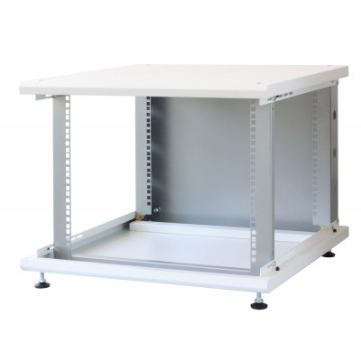 """19"""" Rack Cabinet Ideal for Photovoltaic Accumulators 8U P600mm White - Techly Professional - I-CASE EE-2008WH6-11"""