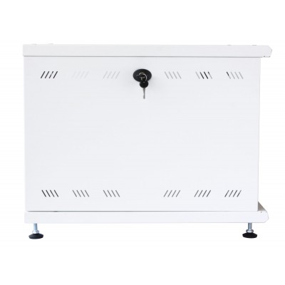 """19"""" Rack Cabinet Ideal for Photovoltaic Accumulators 8U P600mm White - Techly Professional - I-CASE EE-2008WH6-12"""